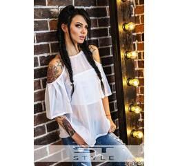 Блуза   топ 14042 (белый)