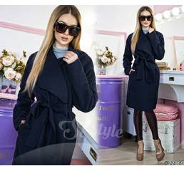 Пальто 22060 (тёмно - синий)