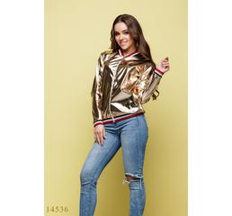 Женская куртка ветровка Ориан золото