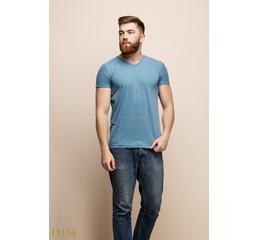 Мужская футболка 15134 синий