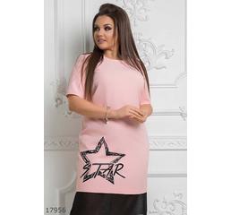 Женское платье 17956 розовый