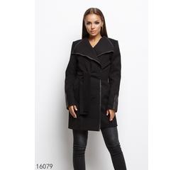 Женское пальто тренч 16079 черный