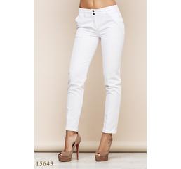 Женские брюки 15643 белый