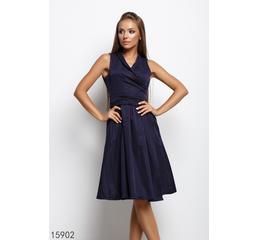 Женское платье 15902 темный синий