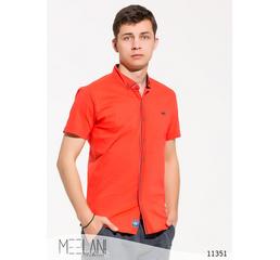 Мужская рубашка короткий рукав Эрик оранжевый