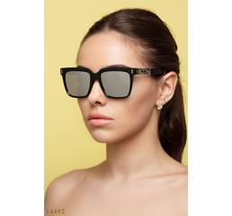 Солнцезащитные очки 14492 черный зеркало серый
