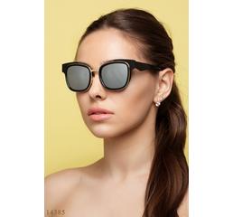 Солнцезащитные очки 14385 черный зеркало серый