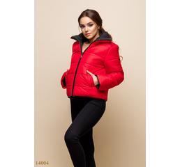 Женская куртка Вико красный черный