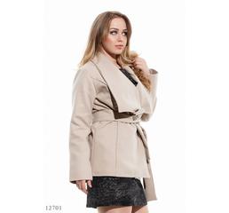 Женское кашемировое полу пальто Эстер бежевый