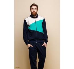 Мужской спортивный костюм Шиай темный синий бирюза