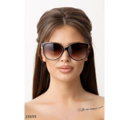 Солнцезащитные очки 18699 коричневый бежевый глянец