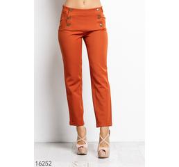 Женские брюки 16252 оранжевый