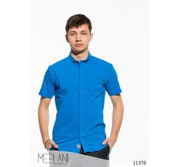 Мужская рубашка короткий рукав Классика электрик