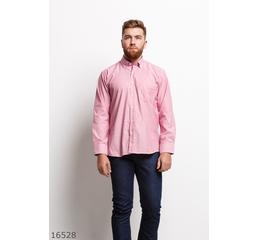 Мужская рубашка 16528 розовый