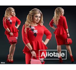 Платье - 19444 (красный)