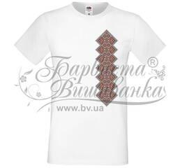 ФЧ-050 Футболка-вышиванка мужская напечатанная крестиком