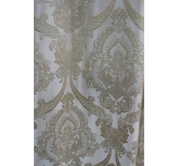 Шторы ткань в спальню золотая корона белый купить в розницу