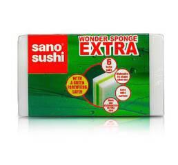 Набор губок многоцелевого назначения Sano Sushi Wonder sponge EXTRA 6 шт