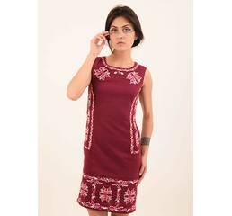 Вишиті плаття хрестиком. Вишите плаття бісером. Червона сукня з ... 37bb577ed2181