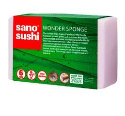 Многофункциональная губка для легкого и длительного использования  Sano Sushi, Wonder Sponge 6 шт