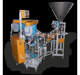 Автоматичний комплекс для дозування і закочування сипучих продуктів в жерстяну банку (арахіс, горіхи, насіння, кави і ін)