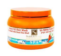 Грязевая маска для волос с морковным маслом Health & Beauty Carrot Oil & Mud Hair Mask 250 мл.