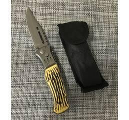 Ніж викидний з кістяною ручкою 21см / АК-29