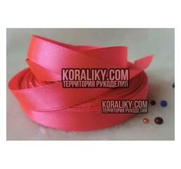 (0020130509) Стрічка атласна одностороння яскраво рожева ширина 13 мм