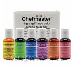Набір неонових харчових барвників Liqua - Gel Color Kit