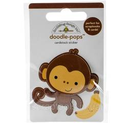 Наклейка 3Д Doodlebug - Stickers At The Zoo Monkey Mike