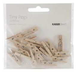 Деревянные мини прищепки Kaisercraft Tiny Pegs 20 шт (883416184072)