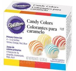 Набір харчових барвників від Wilton Candy Colors - Yellow, Orange, Red & Blue
