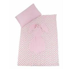 Плед подушка Twins Кролик 120х90 pink