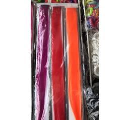 Пряди на заколках одноцветные