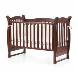 Ліжко дитяче Соня ЛД15 без колiс, на нжках (горiх)