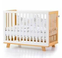 Ліжко дитяче Соня ЛД1 (Манхеттен) без коліс, маятник (біло-букове)