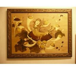 "Картина""Девушка-птица на цветке желаний"""
