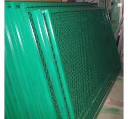 Забор секционный из сетки рабица
