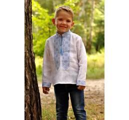 Вышиванка детская для мальчика из натурального льна Модель: Д071-213