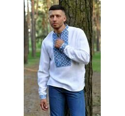 Сучасна сорочка-оберіг з льону з виразною вишивкою Модель: М19/2-213
