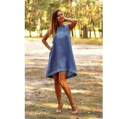 Розкльошена сукня вишиванка з американською проймою Модель: П03-273