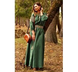 Жіноча довга сукня зеленого відтінку