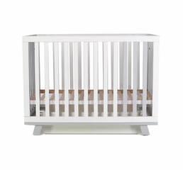 Ліжко дитяче Соня ЛД1 (Манхеттен) без коліс, маятник (біло-сіре)