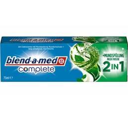 Зубная паста Blend-a-med complete 2 in 1 с ополаскивателем Мягкая свежесть 75 мл Германия