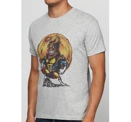 Мужская футболка с принтом Super Monkey Manatki Меланж S (11510235)