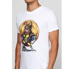 Мужская футболка с принтом Super Monkey Manatki Белый S (11510235)