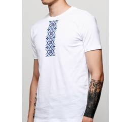 Мужская футболка с принтом Вышиванка М1 Manatki Белый L (11601712)