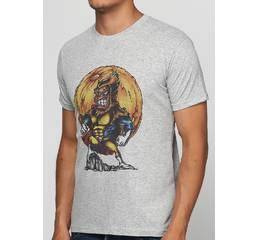 Мужская футболка с принтом Super Monkey Manatki Меланж M (11510235)