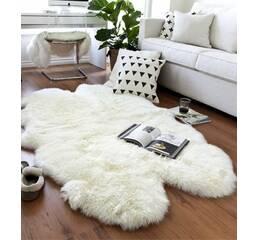 Килим з 4-х овечих шкур (білий)