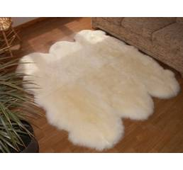Килим з 6-х овечих шкур (кремовий)
